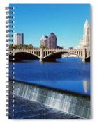 Scioto River With Waterfall Spiral Notebook
