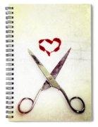 Scissors And Heart Spiral Notebook