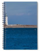 Scituate Lighthouse From Across The Harbor Spiral Notebook