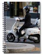 Scooter Girl Paris 1 Spiral Notebook