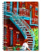 Scooter Ride Along Coloniale Street Spiral Notebook
