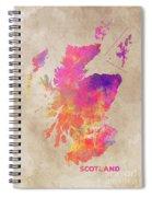 Scotland Map Spiral Notebook
