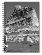 Scots Bluff Black And White Spiral Notebook