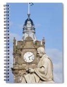 Scott Statue And Balmoral Clock Tower Spiral Notebook