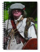 Scottish Soldier Of The Sealed Knot At The Ruthin Seige Re-enactment Spiral Notebook