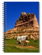 Scotts Bluff Large Panorama Spiral Notebook