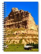 Scotts Bluff National Monument Panorama Spiral Notebook