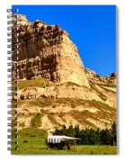 Scotts Bluff National Panoramic Landscape Spiral Notebook