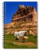 Scotts Bluff Wagon Train Panorama Spiral Notebook