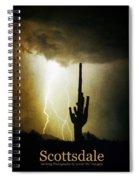 Scottsdale Arizona Fine Art Lightning Photography Poster Spiral Notebook