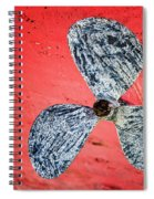 Screw Propeller Spiral Notebook