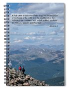 Scripture And Picture Micah 4 1 Spiral Notebook