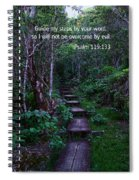 Scriture And Picture Psalm 119 133 Spiral Notebook