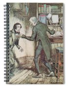 Scrooge And Bob Cratchit Spiral Notebook