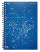 Scuba Doggie Patent Artwork 1893 Spiral Notebook