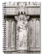 Sculpture Above North Entrance Of Westminster Abbey London Bw Spiral Notebook