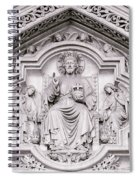 Sculpture Above North Entrance Of Westminster Abbey London Spiral Notebook