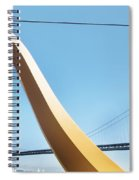 Sculpture By San Francisco Bay Bridge Spiral Notebook