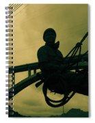 Sculpture - Hoover Dam Construction Worker Spiral Notebook