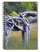 Sculpture Of Horse Spiral Notebook