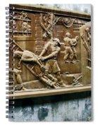 Sculpture Torture At Hoa Lo Prison Hanoi Spiral Notebook