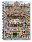 sculptures on Arulmigu Kapaleeswarar Temple, Chennai, Tamil Nadu Spiral Notebook
