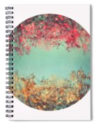 Gold And Pink Spiral Notebook