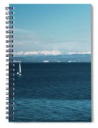 Sea And Snowy Alps Spiral Notebook