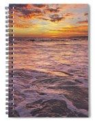 Sea At Sunset In Algarve Spiral Notebook