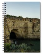 Sea Cave And Agave Bloom Spike - The Magic Of Algarve Portugal Spiral Notebook