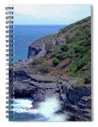 Sea Cave And Nesting Boobies Spiral Notebook