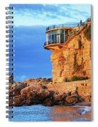 Sea Coast Sunrise At Balcon De Europa In Nerja Spiral Notebook