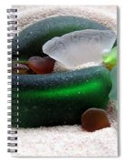 Sea Glass From Bermuda Spiral Notebook