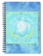 Flamingo Beach 1 - Turtle With Starfish  Spiral Notebook