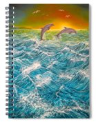 Sea In Action Spiral Notebook
