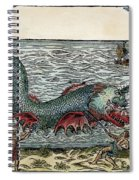 Sea Monster, 16th Century Spiral Notebook