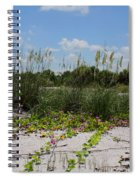 Sea Oats And Blooming Cross Vine Spiral Notebook