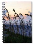 Sea Oats Silhouette Spiral Notebook