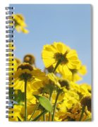 Sea Of Gold Spiral Notebook