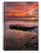 Sea Of Red Spiral Notebook