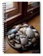 Sea Shells And Stones On Windowsill Spiral Notebook