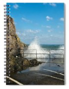 Sea Spray At Mevagissey Harbour Spiral Notebook