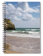 Sea Stack Sculpted Like A Ship Riding The Waves Spiral Notebook