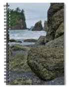 Sea Stacks And Boulders Washington State Spiral Notebook