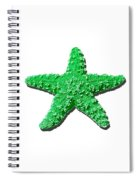 Sea Star Green .png Spiral Notebook