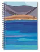 Sea View And Chapel Spiral Notebook
