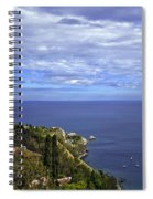 Sea View From Taormina Spiral Notebook