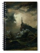 sea with Lighthouse Spiral Notebook