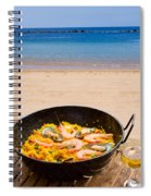 Seafood Paella In Cafe Spiral Notebook