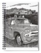 Seagrave Gmc Firetruck Spiral Notebook